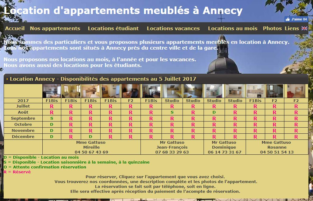 Location meuble annecy latest location vacances studio for Location meuble annecy